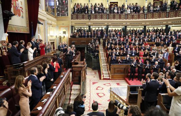 Imagen del Congreso durante la intervención del Rey el pasado 6 de diciembre