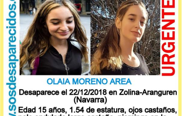 Buscan a una menor de 15 años desaparecida en Navarra desde el sábado.