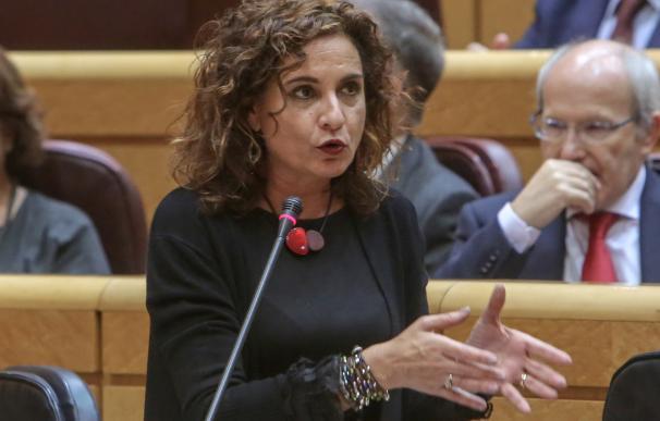 María Jesús Montero, en un Pleno del Senado