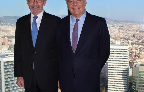 Garralda, presidente del Grupo Mutua, y Díaz-Morera, presidente EDM