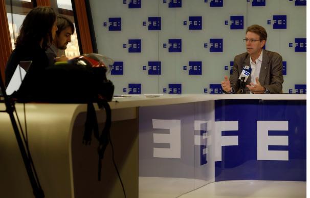 El secretario de organización del PDeCAT, Ferran Bel,durante la entrevista concedida a Efe