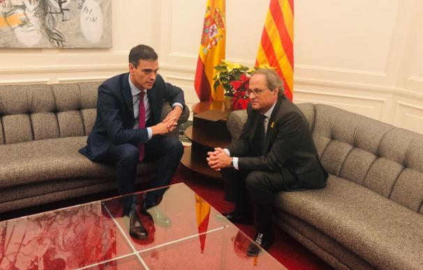 Encuentro entre el presidente Pedro Sánchez y el presidente Quim Torra