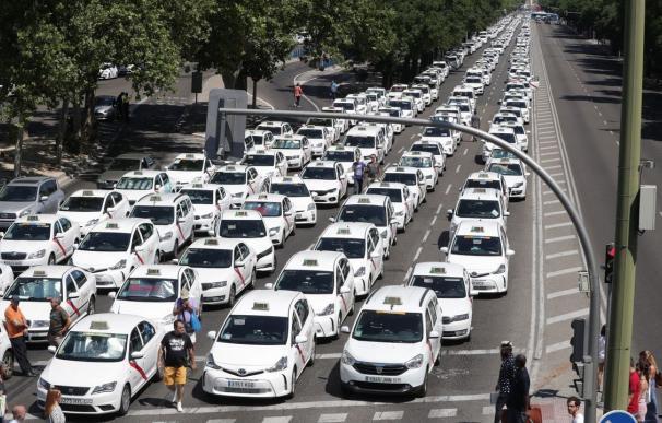 La huelga del taxi en julio