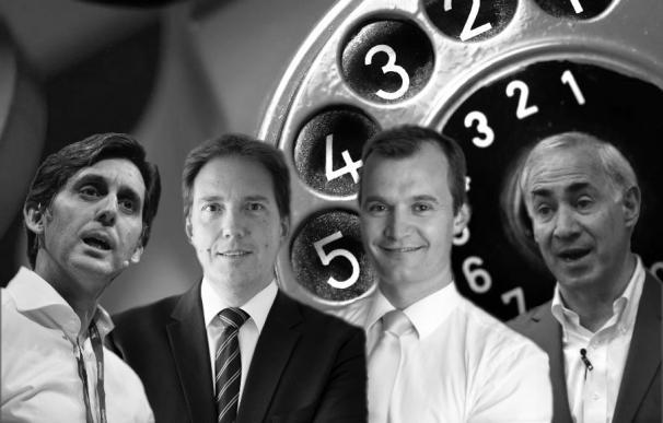 Los grandes líderes de las telecos en España