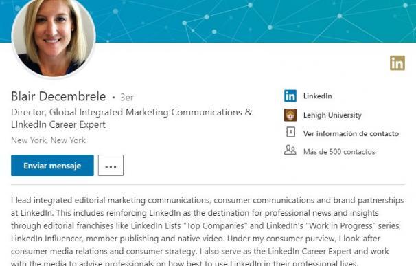El sumario del perfil es lo primero que ven tus posibles empleadores.