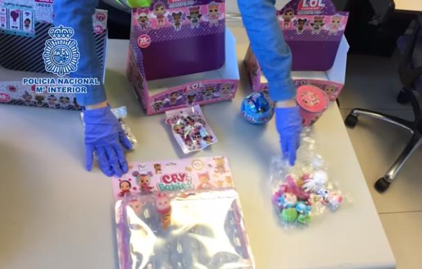 Imagen de la operación policial contra la falsificación de juguetes