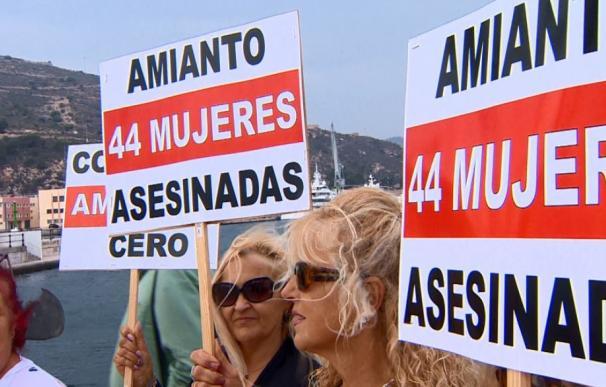 Protesta contra el amianto