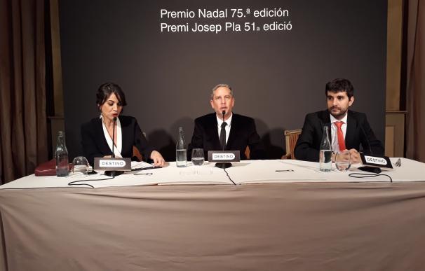 Lídia Heredia(periodista),Guillermo Martínez(Premio Nadal),Marc Artigau(Premi Pl