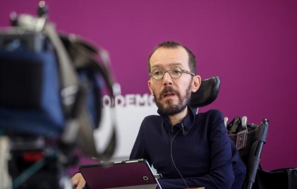 El secretario de Organización de Podemos, Pablo Echenique, en la entrevista