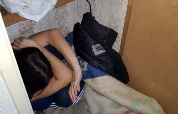 Imagen de la mujer víctima de violencia machista rescatada en Murcia