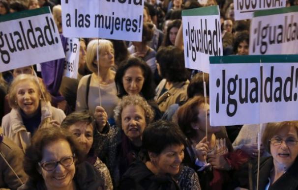 Mujeres en una manifestación a favor de la igualdad.
