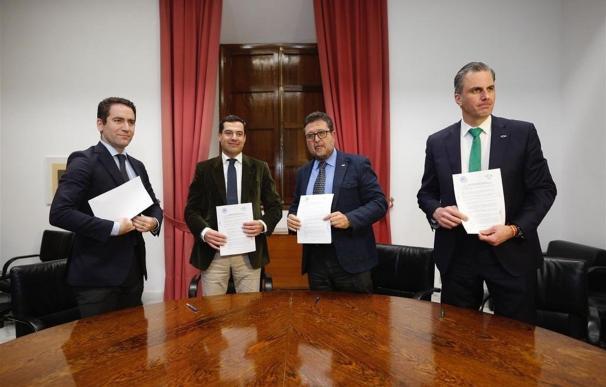 Teodoro Garía Egea, Juanma Moreno, Francisco Serrano y Javier Ortega Smith