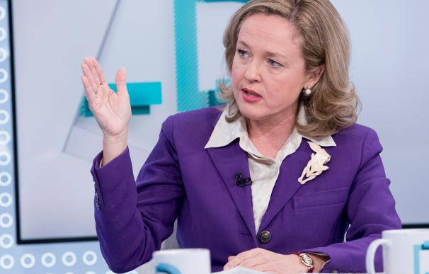 La ministra de Economía, Nadia Calviño, en los Desayunos de TVE