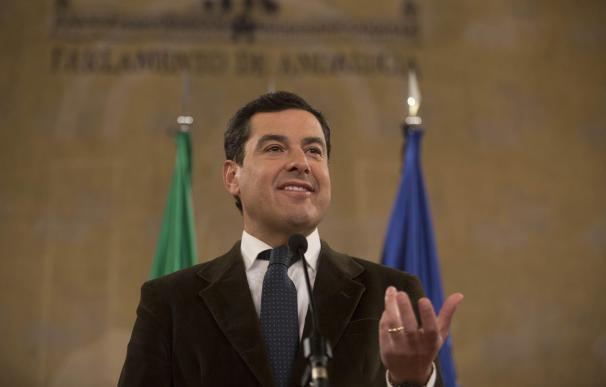 Juanma Moreno, este miércoles en el Parlamento