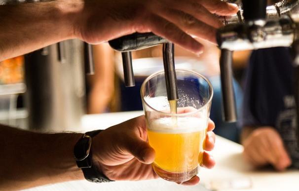 Fotografía de una cerveza.