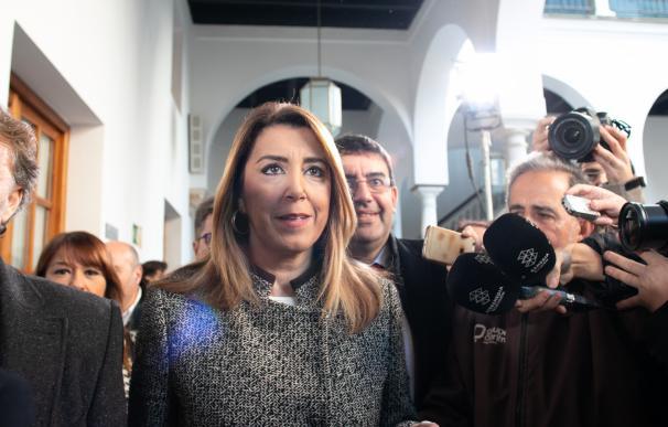 Susana Díaz, este jueves, en el Parlamento andaluz