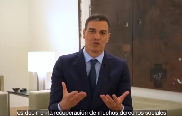Imagen del vídeo de Pedro Sánchez en Twitter / Twitter