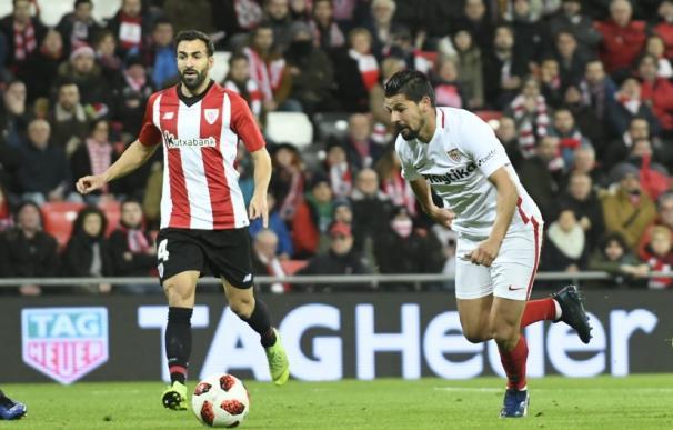 Nolito durante el partido de Copa frente al Ahletic Club (Foto: Sevilla F.C.)