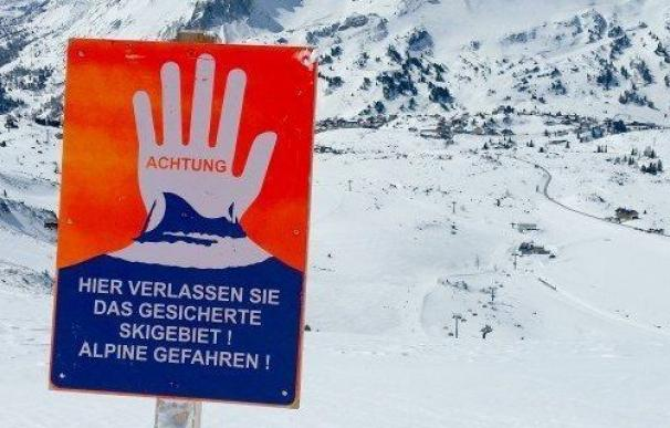Los esquiadores recorrían una pista que se encontraba cerrada (Foto: Vol.at)