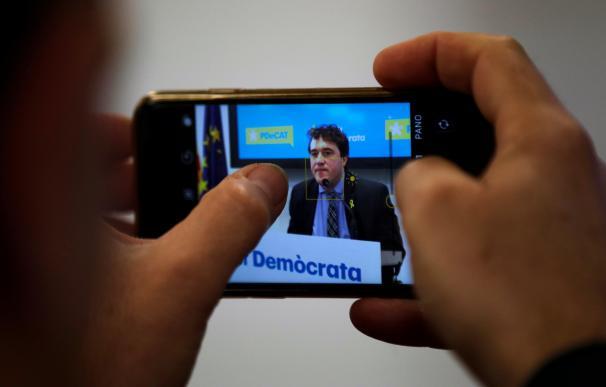 Imagen de David Bonheví en una pantalla de móvil / EFE