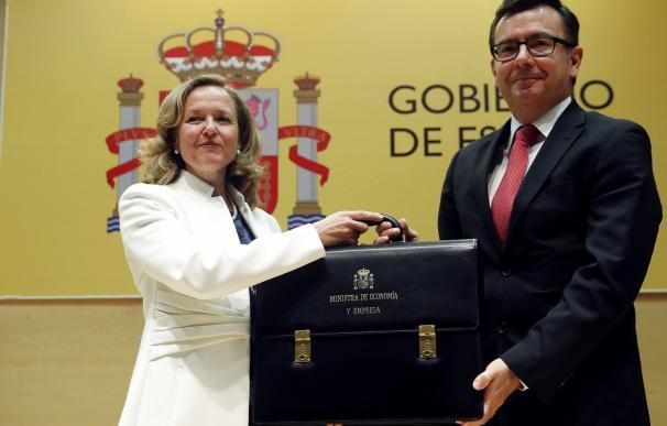 Nadia Calviño y Román Escolano