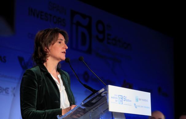 Teresa Ribera durante su intervención en el Spain Investors Day.
