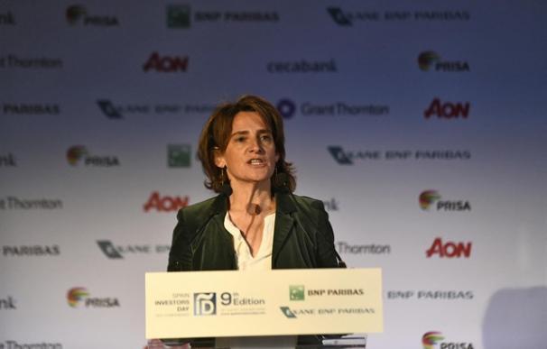 Teresa Ribera en el Spain Investors Day.