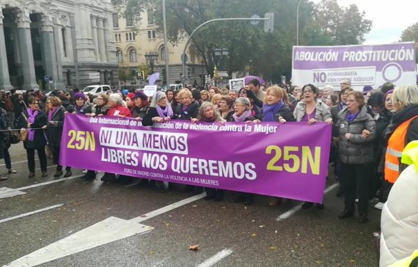 Manifestación contra la violencia de género del 25 de noviembre de 2018