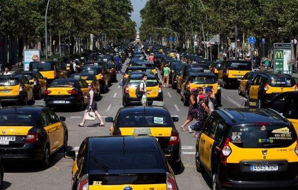 Manifestación del taxi en Barcelona
