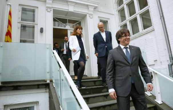 Puigdemont, en la inauguración de la 'embajada' catalana en Copenhague. / EFE