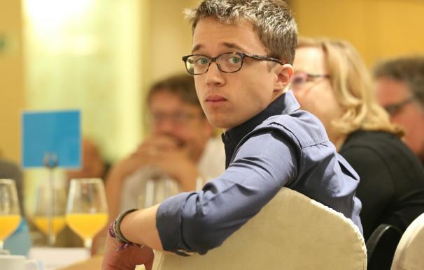 Iñigo Errejón en un desayuno informativo de Europa Press