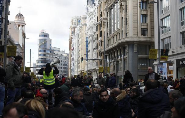 Manifestación taxistas. / Europa Press