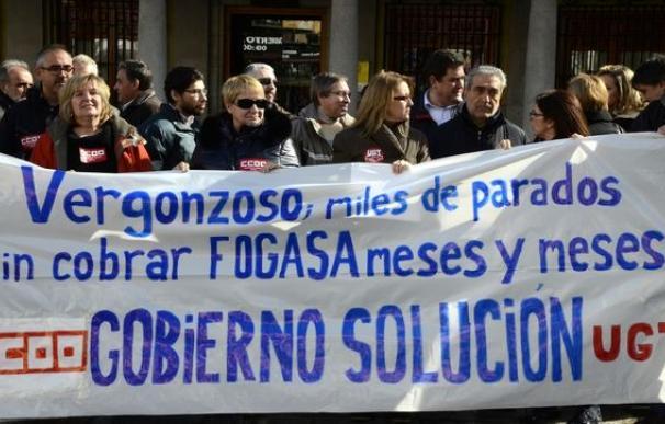Fotografía protesta por impagos por parte del Fogasa / EP