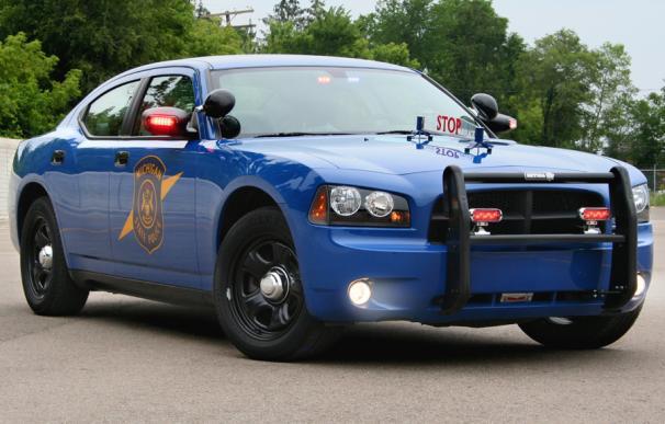 Fotografía de un vehículo de la policía de Michigan.