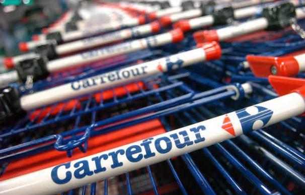 Carros de la compra de Carrefour.