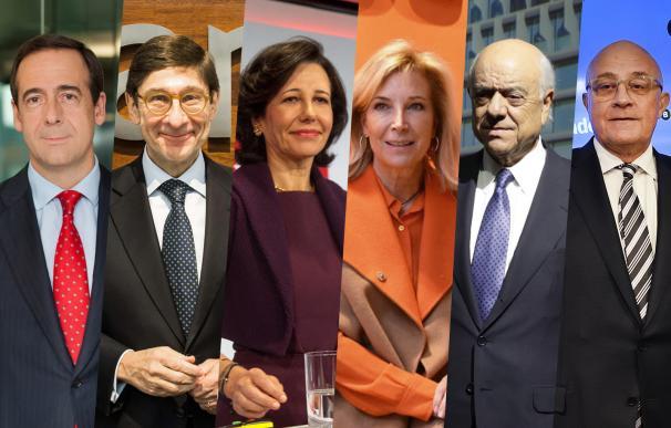 Imagen de los presidentes de los grandes bancos.