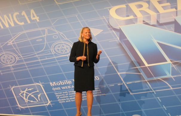 La presidenta de IBM, Ginni Rometty