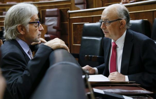 Foto de Sánchez Llibre con Montoro / EFE