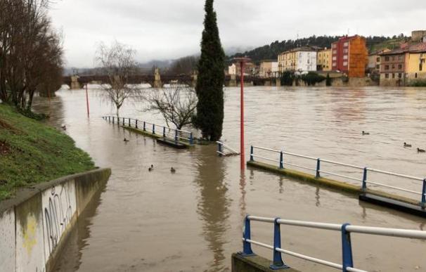 Inundaciones en Miranda de Ebro. / EFE