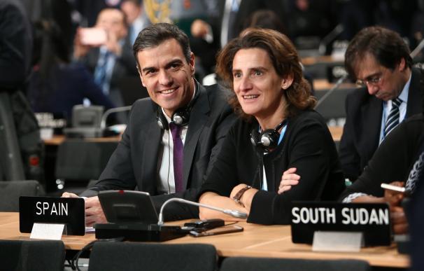 Pedro Sánchez y Teresa Ribera