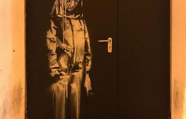 La obra de banksy que ha sido sustraída de la Sala parisina