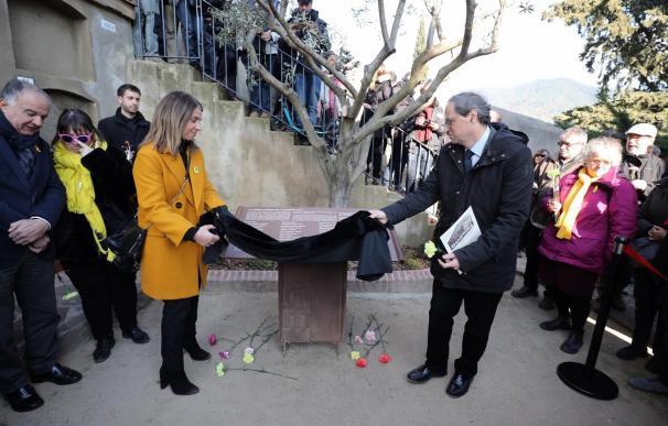 El presidente de la Generalitat, Quim Torra, y la alcaldesa de La Garriga, Merit