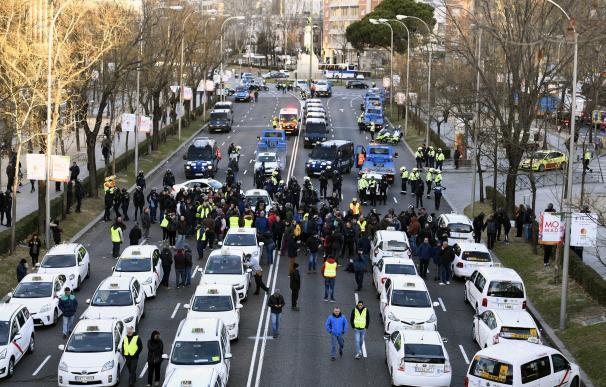 Taxistas en la Castellana