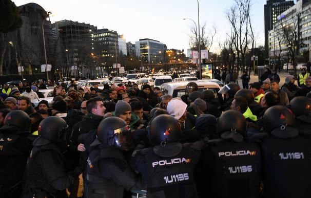 Huelga taxistas Madrid