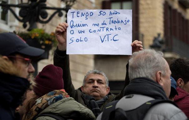 Protesta de conductores de VTC en Barcelona.