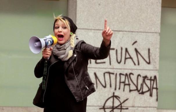 Melissa Domínguez, portavoz de la organización neonazi