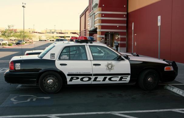 Fotografía de un coche de policía de Las Vegas.