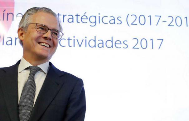El presidente de la Comisión Nacional del Mercado de Valores (CNMV), Sebastián Albella. EFE JUAN CARLOS HIDALGO