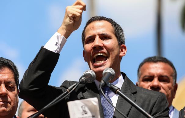 El presidente del Parlamento venezolano, Juan Guaidó.