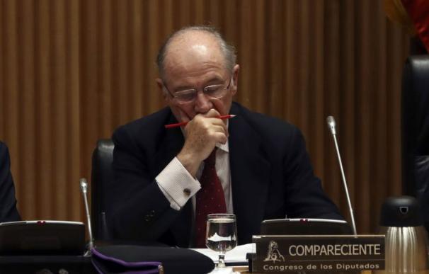 Rodrigo Rato durante la comisión de investigación del Congreso